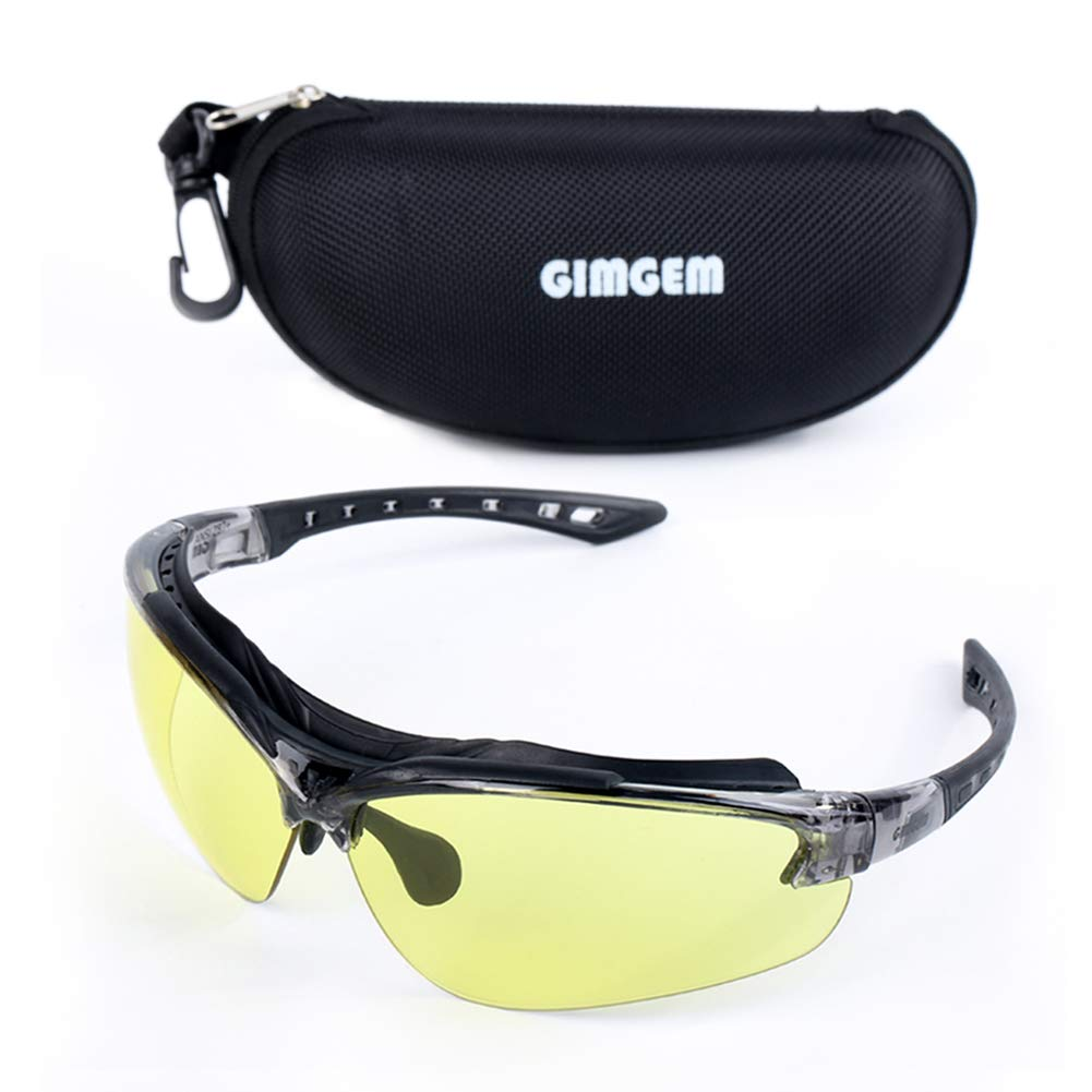 GIMGEM Tactical Shooting Glasses with 2 Anti-Fog & Impact Resistance Interchangeable Lenses, UV400 Protection Unisex Safety Glasses for Shooting, Working, and Everyday Use by GIMGEM