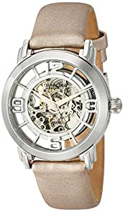 Stuhrling Original Winchester Grand Men's Automatic Watch with Silver Dial Analogue Display and Brown Leather Strap 156.121S2