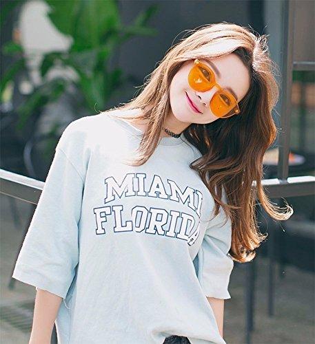 Mujeres Gafas Hombres Gafas de GLASSES Para amp;L Sol Lente J Adulto Orange Gafas Retro Coloreado Unisex 1nzwXnYq