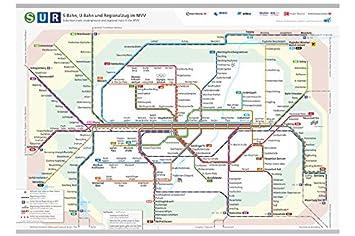 Mvv Karte.Argus Brillenputztuch Mikrofasertuch Motiv Mvv München S U Bahn