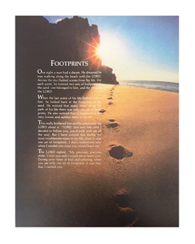 Christian Art, Grace, Love, Inspirational Footprints Poem: