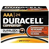 24 Pack 'AAA' Duracell CopperTop Alkaline Batteries