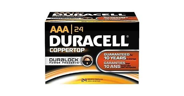 Amazon.com: Duracell CopperTop - Pilas alcalinas (24 ...