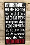 Hockey Sign, Ice Hockey Decor, In This Home We Do Hockey, Hockey Wood Sign, Hockey Gift Sign, Hockey Signs For Bedrooms