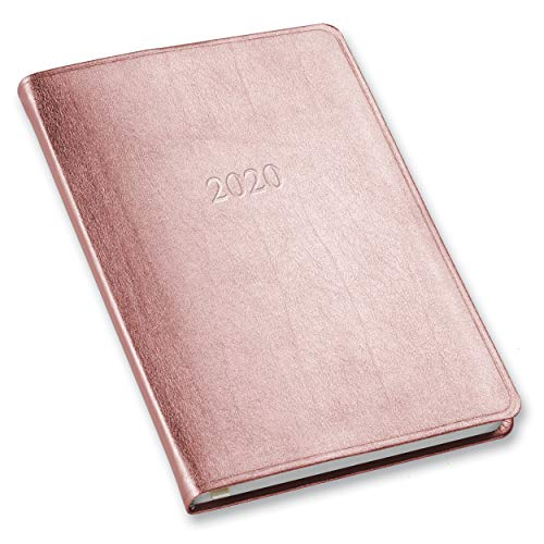 Leather Weekly - 2020 Gallery Leather Desk Weekly Planner Metallic Rose Gold 8