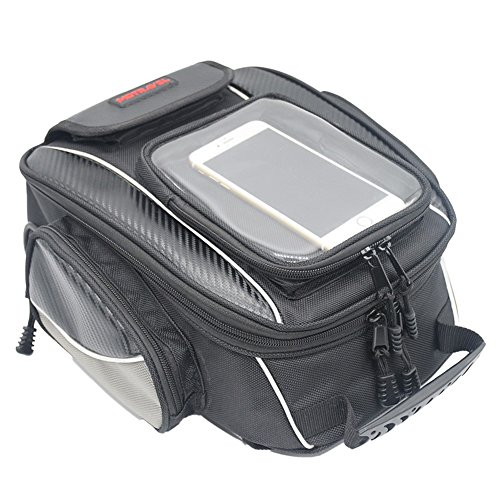 Motorcycle Tank Bag Waterproof with Strong Magnetic Motorbike Bag for Honda Yamaha Suzuki Kawasaki Harley (Pack Sportbike Saddlebags)