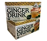 Intra Intant Ginger Drink Less Sugar, 10.5oz, 20-sachet per pack, (Pack of 2)