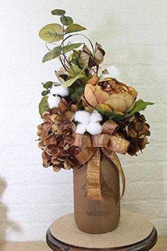 - High Cotton Quart Mason Jar Floral Arrangement
