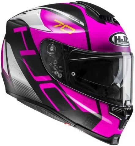 Noir//Rose Taille XS HJC Casque Moto RPHA 70 Vias MC8Sf