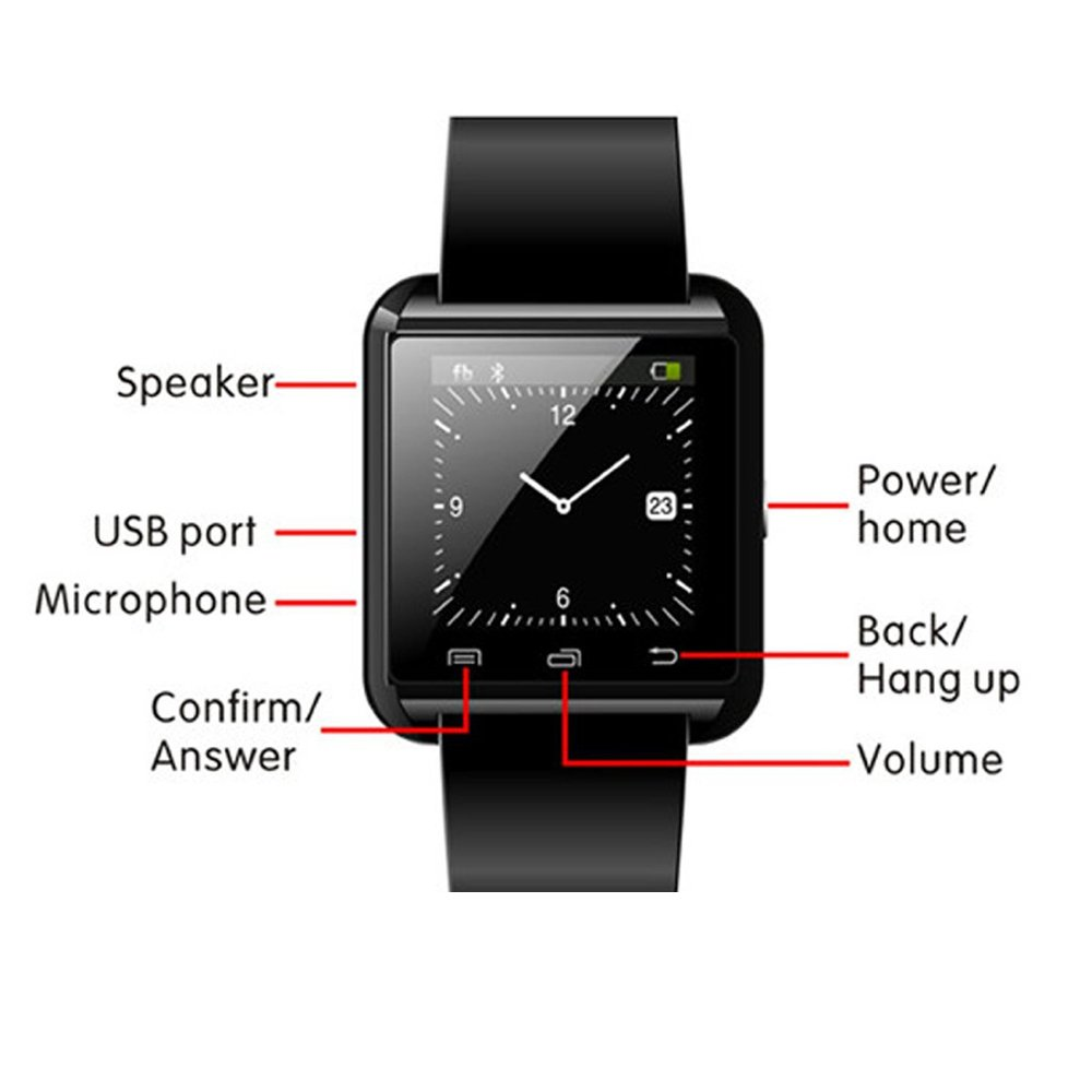 DOESIT Touch Screen Smartwatch U8 Bluetooth Smart Watch for Samsung Galaxy HTC Nexus Sony LG Huawei Android Smartphones by DOESIT (Image #5)