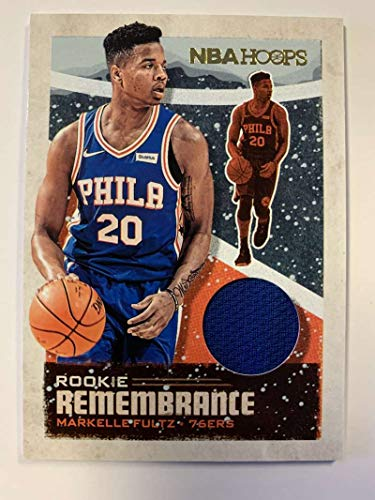 2019-20 Panini Hoops Rookie Remembrance Jersey/Relic Winter Basketball #9 Markelle Fultz Philadelphia 76ers Official Holiday/Christmas Parallel NBA Trading Card (2019 Christmas Jersey Nba)