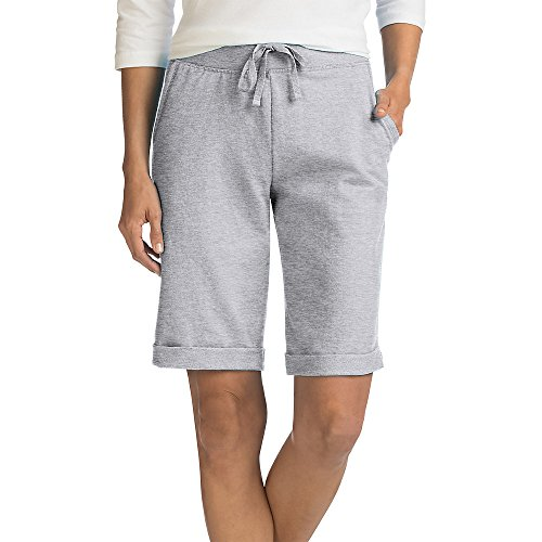 (Hanes Women's French Terry Bermuda Pocket Short)