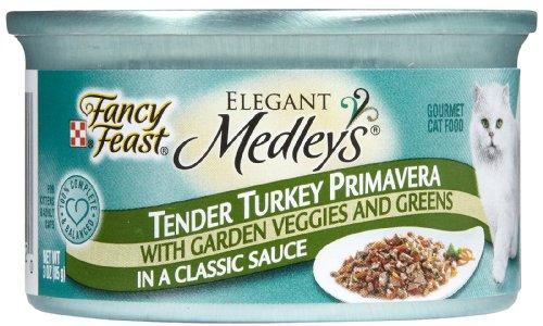 Fancy Feast Elegant Medleys Canned Cat Food Tender Turkey Pr