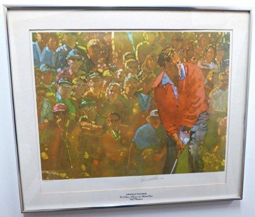51da745fdc2 Arnold Palmer Autographed Framed 21x24 Lithograph Photo Beckett BAS  A89089