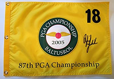 PHIL MICKELSON Signed 2005 PGA Championship BALTUSROL Golf Pin FLAG