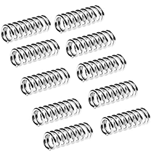 Qunqi 10pcs 3D Printer Accessory Feeder Spring for Ultimaker Makerbot Wade Extruder Nickel Plating