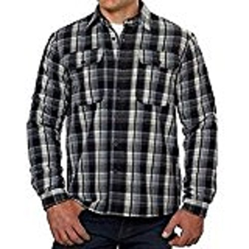 Boston Traders Men's Flannel Jacket Shirt with Fleece Lining- Black - Stores Boston Outlet