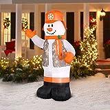 Gemmy Airblown Inflatable Hunter Snowman, 7'