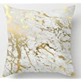 UniqueType Fashion Pillowcases Gold Marble Inspired By The Beauty Of Marble Style Nice Pillow Cover Bedding Set Pillow Cases 16 x 16 Inches