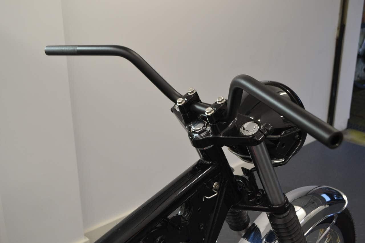 PQZATX Schwarze CNC Motorrad Lenker Lenker Endspiegel 7//8 22Mm f/ür Motorrad