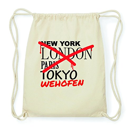 JOllify WEHOFEN Hipster Turnbeutel Tasche Rucksack aus Baumwolle - Farbe: natur Design: Grafitti DgUi5oE