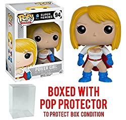 Funko Pop! DC Heroes: Power Girl #94 Vinyl Figure (Bundled with Pop BOX PROTECTOR CASE)