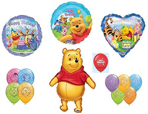 (DalvayDelights Winnie The Pooh Piglet Tigger Eeyore Happy Birthday Balloons Bouquet Party Decor )