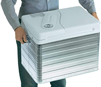 Mobicool Q40 Nevera Eléctrica Portátil, Aluminio, 39 l, mini nevera para coche, camión, barco y autocaravana, 12 y 230 V