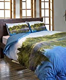 Lakefront Living Photo Real Scenic Lakeview Full/Queen Size Comforter Set