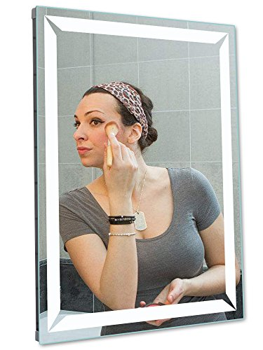 M LTMIRROR LED Lighted Wall Mounted Bathroom Vanity Mirror with Defogger + -