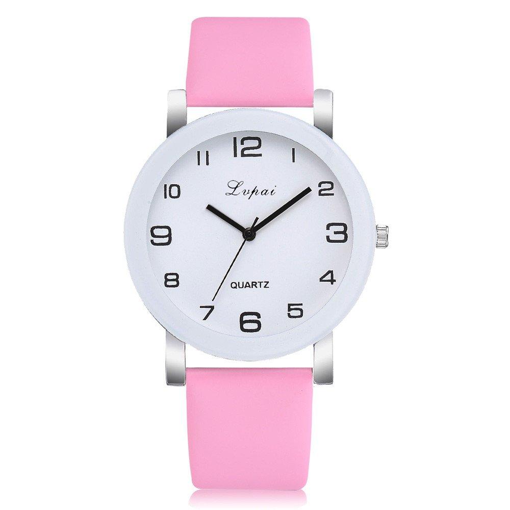 Yusealia Relojes Pulsera Mujer Despeje, Casual Reloj Banda de PU Dama Relojes para Negocio Relijes de Espejo de Vidrio de Alta Dureza: Amazon.es: Relojes