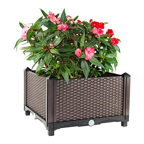 D'vine Dev Rattan Design Large Flower Pot Planter Box 14