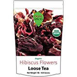 Organic Hibiscus Flowers Tea 1 Pound (200 Cups,7 Cents/Cup) Dual Spices