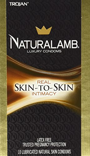 Naturalamb Natural Skin Condoms, Lubricated, 10 condoms (Condoms Naturalamb Trojan)