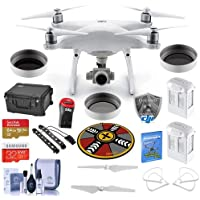 DJI Phantom 4 Advanced Prime Kit - Bundle with Go Prof. Case, 64/32GB MicroSDXC Card, 2x Spare Batteries, Quick-Release Propellers, Propeller Guard, 32in Collapsible Pad, Polar LED Light Bars, More