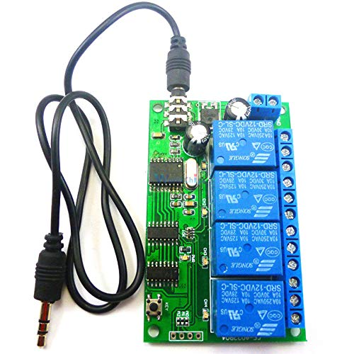 AD22B04 4 CH MT8870 DTMF Tone Signal Decoder Phone Voice Remote Control Relay Switch Module 12V DC for LED Motor PLC Smart Home