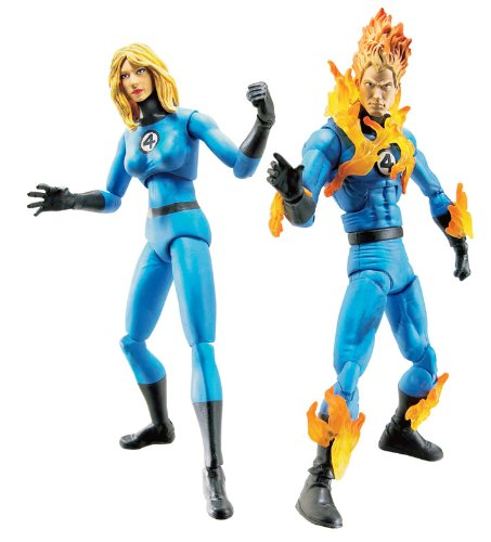 MARVEL LEGENDS 2 PK FIGURE - HUMAN TORCH & INVISIBLE WOMAN