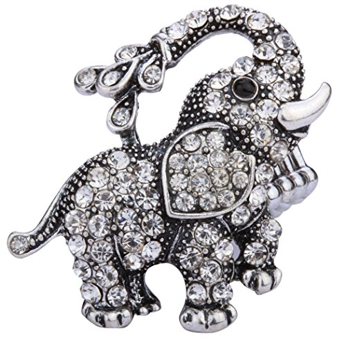 Angel Jewelry Women#039s Crystal Elephant Stretch Ring
