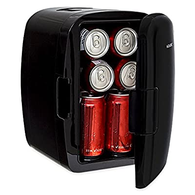 Magnasonic Portable 8 Can Mini Fridge Cooler & Warmer, 5L Capacity, Fully Insulated, Thermoelectric, 110V & 12V AC/DC Power for Home, Office, Car, RV & Boat
