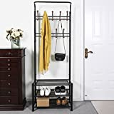 SONGMICS Entryway Coat Rack with Storage Shoe