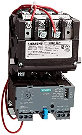 Siemens 14due32ac heavy duty motor starter solid state for Manual motor starter with overload protection