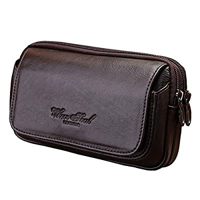 Genda 2Archer Mens Leather Belt Loops Waist Bag Wallet Phone Pouch