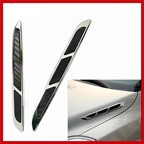 Auto decorative Side Hood Scoop Cover Gas Station Sign Car Air Flow Vent Fender Decor Sticker Lasasa