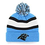 NFL Carolina Panthers Men's Rush Down OTS Cuff Knit Cap with Pom, Team Color, One Size