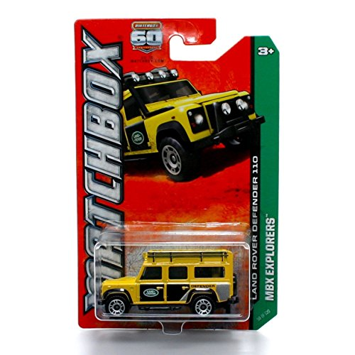 LAND ROVER DEFENDER 110 (Yellow) * MBX Explorers * 2012 Matchbox 1:64 Scale Basic Die-Cast Vehicle (#59 of 120)