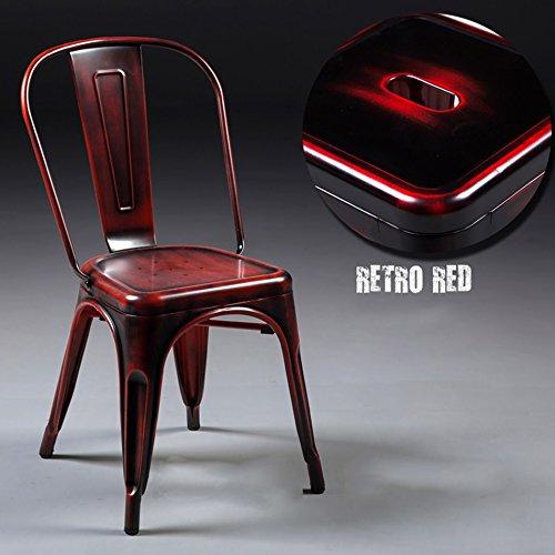 Lying Retro sillón de hierro, loft creativo comedor silla ...