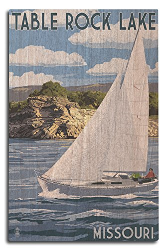 Lantern Press Table Rock Lake, Missouri - Sloop Sailboat for sale  Delivered anywhere in USA