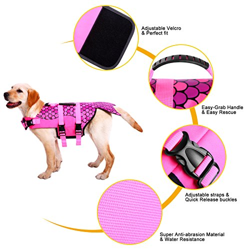 Pictures of Queenmore Dog Life Jacket Ripstop Lifesaver Coat 6
