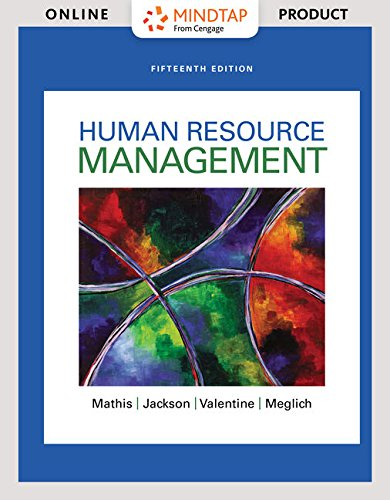 MindTapV2.0 Management for Mathis/Jackson/Valentine/Meglich's Human Resource Management  - 6 months -  15th Edition [Online Courseware] -  Cengage Learning