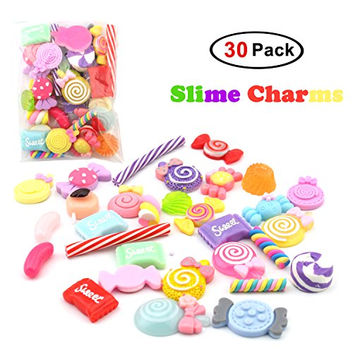- Easter Day Gifts, 30 Pack Slime Charms For DIY Slime Making, Mixed Assorted Sweet Candies 30 Pieces of Slime Beads, DIY Arts Crafts Slime Accessories (Slime Charms 30 Pack)